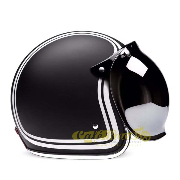 BUBBLE Visor FLIP UP Helmet Silver Type Biltwell Bandit Bubble Cafe Racer
