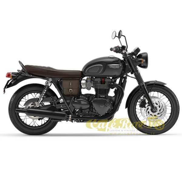 Borsa-da-fianchetto-universale-cuoio-marrone-2-8L-Triumph-Scrambler-e-cafe-racer miniatura 4